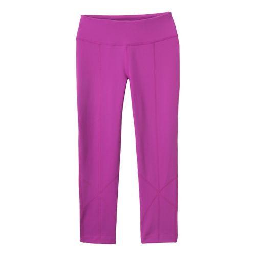 Womens Prana Prism Legging Capri Tights - Berry M
