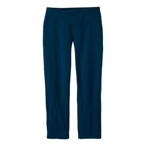 Womens Prana Prism Legging Capri Tights - Deep Blue L