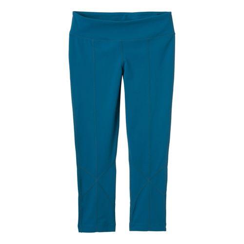 Womens Prana Prism Legging Capri Tights - Ink Blue M