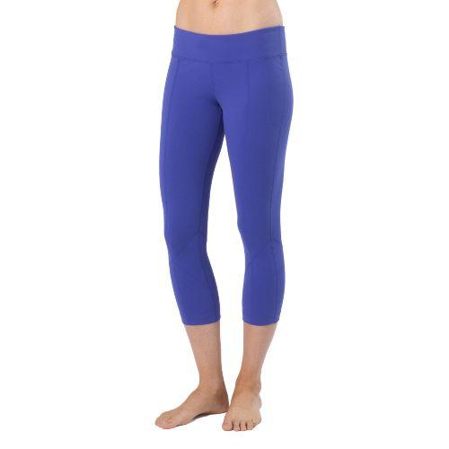 Womens Prana Prism Legging Capri Tights - Sail Blue XS