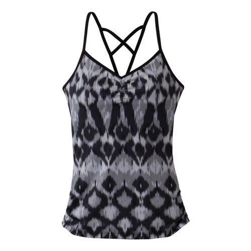 Womens Prana Leyla Tanks Technical Tops - Coal Ikat M