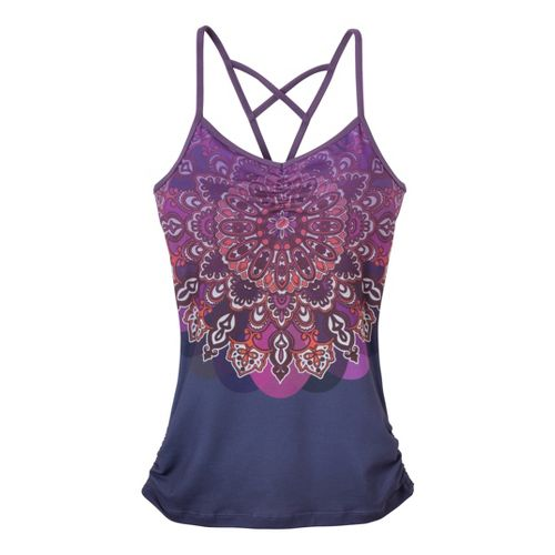 Womens Prana Leyla Tanks Technical Tops - Larkspur Mandala M