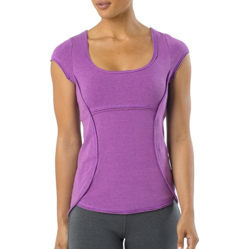 Womens Prana Katarina Short Sleeve Technical Tops - Dewberry M