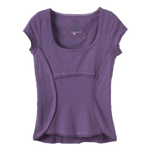 Womens Prana Katarina Short Sleeve Technical Tops - Larkspur S