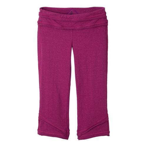 Womens Prana Cecilia Knicker Capri Pants - Plum Red M