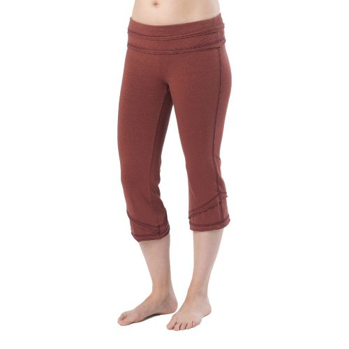 Womens Prana Cecilia Knicker Capri Pants - Raisin XL
