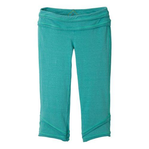 Womens Prana Cecilia Knicker Capri Pants - Turquoise L