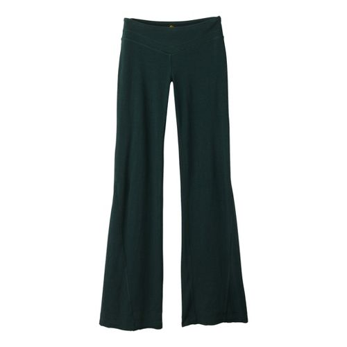 Womens Prana Linea Full Length Pants - Pine M