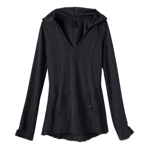 Womens Prana Angie Hoodie Long Sleeve No Zip Technical Tops - Coal L