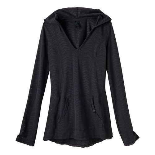 Womens Prana Angie Hoodie Long Sleeve No Zip Technical Tops - Coal XS