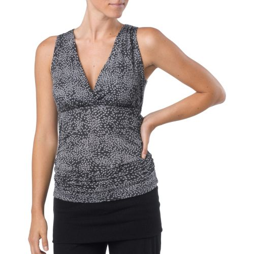 Womens Prana Mikayla Tanks Technical Tops - Black Petal M