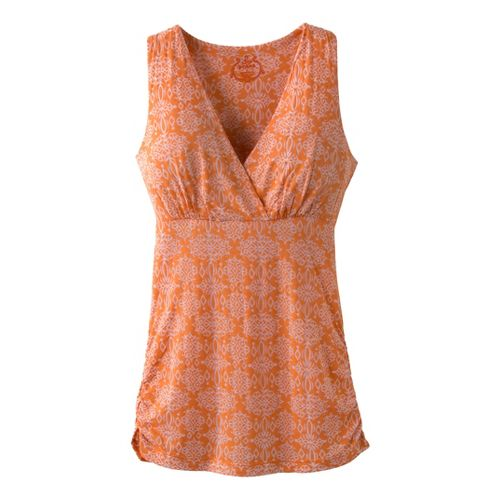 Womens Prana Mikayla Tanks Technical Tops - Sunset L