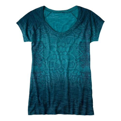 Womens Prana Goddess Tee Short Sleeve Technical Tops - Hydro L