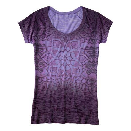 Womens Prana Goddess Tee Short Sleeve Technical Tops - Lavender M