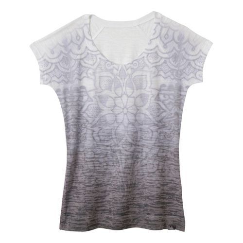 Womens Prana Goddess Tee Short Sleeve Technical Tops - Opal XS