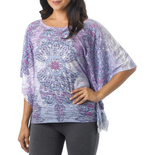 Womens Prana Paradise Top Short Sleeve Technical Tops - Azure XL