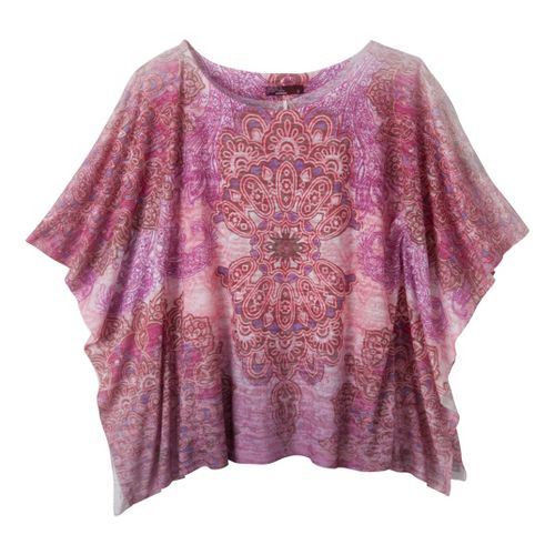 Womens Prana Paradise Top Short Sleeve Technical Tops - Berry XS
