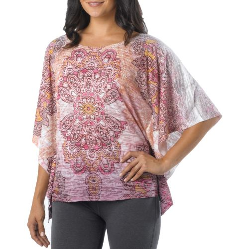 Womens Prana Paradise Top Short Sleeve Technical Tops - Coral Reef L