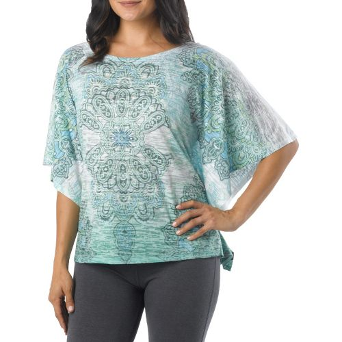 Womens Prana Paradise Top Short Sleeve Technical Tops - Spinach L