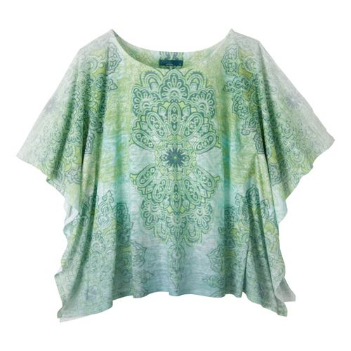 Womens Prana Paradise Top Short Sleeve Technical Tops - Turq M