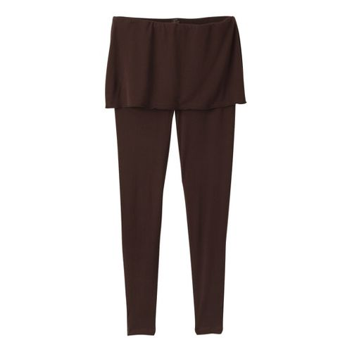 Womens Prana Satori Legging Fitted Tights - Espresso L