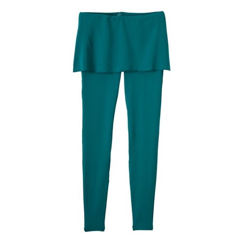 Womens Prana Satori Legging Fitted Tights - Teal XL