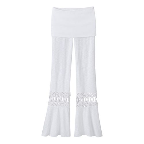 Womens Prana Malibu Full Length Pants - White XL