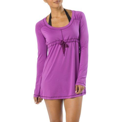 Womens Prana Felicity Long Sleeve No Zip Technical Tops - Summer Plum XS
