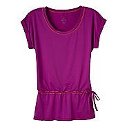 Womens Prana Ella Tunic Short Sleeve Technical Tops