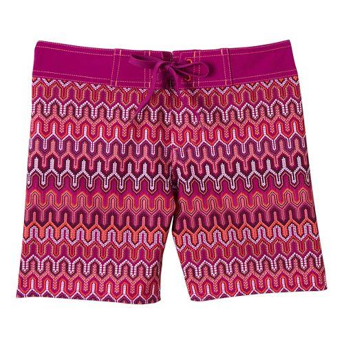 Womens Prana Makenna Board Unlined Shorts - Fuchsia Ibiza L