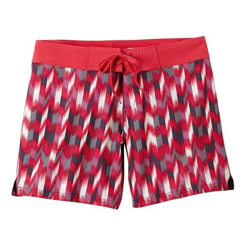 Womens Prana Makenna Board Unlined Shorts - Azalea Ikat L