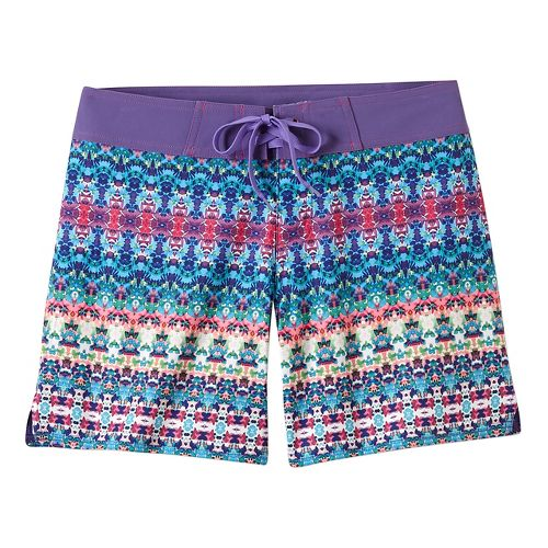 Womens Prana Makenna Board Unlined Shorts - Aquabloom M