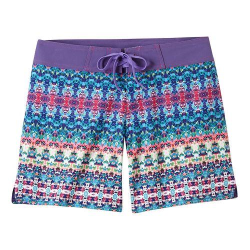 Womens Prana Makenna Board Unlined Shorts - Aquabloom S