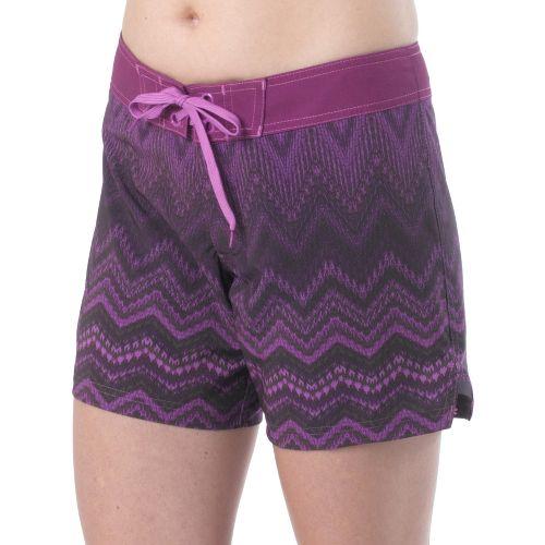 Womens Prana Makenna Board Unlined Shorts - Grape L