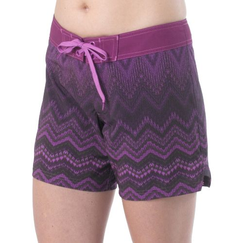 Womens Prana Makenna Board Unlined Shorts - Grape XL