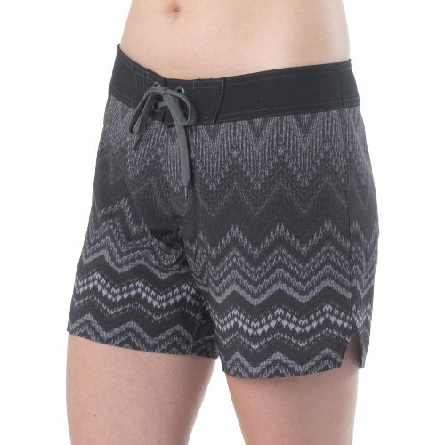 Womens Prana Makenna Board Unlined Shorts - Gravel L