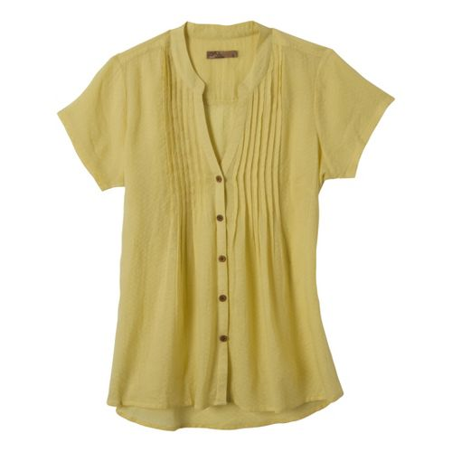 Womens Prana Ellie Short Sleeve Non-Technical Tops - Raffia S