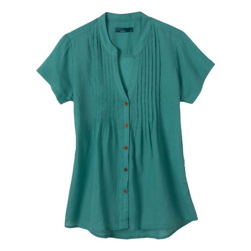 Womens Prana Ellie Short Sleeve Non-Technical Tops - Turquoise XL