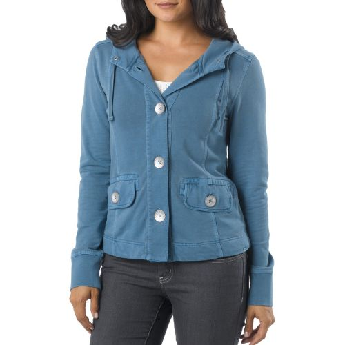 Womens Prana Janelle Warm-Up Unhooded Jackets - Blue Ash S
