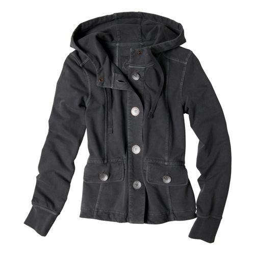 Womens Prana Janelle Warm-Up Unhooded Jackets - Gravel S