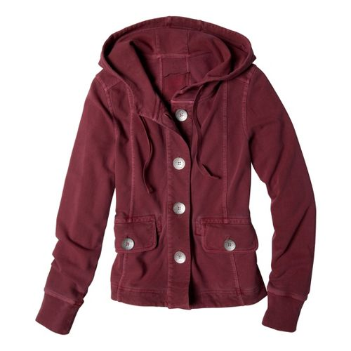Womens Prana Janelle Warm-Up Unhooded Jackets - Tomato M