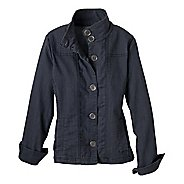 Womens Prana Kara Denim Warm-Up Unhooded Jackets