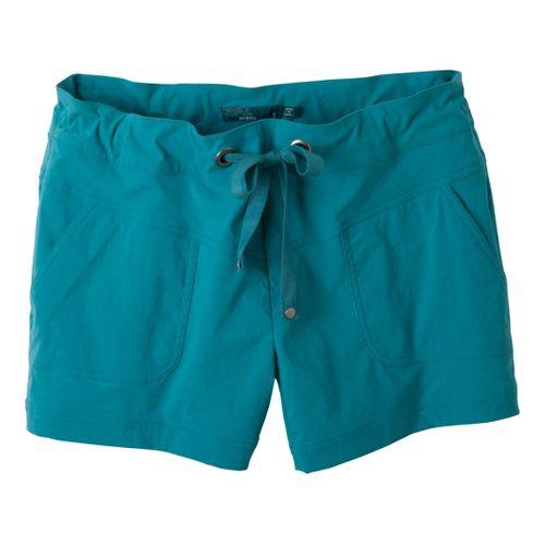 Womens Prana Bliss Unlined Shorts - Capri Blue XS