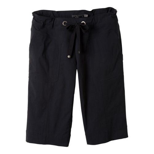 Womens Prana Bliss Knicker Capri Pants - Black XS