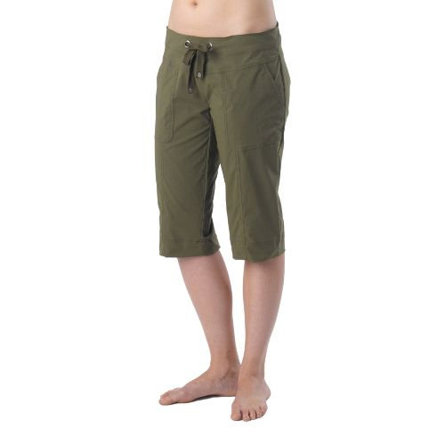 Womens Prana Bliss Knicker Capri Pants - Cargo Green XS