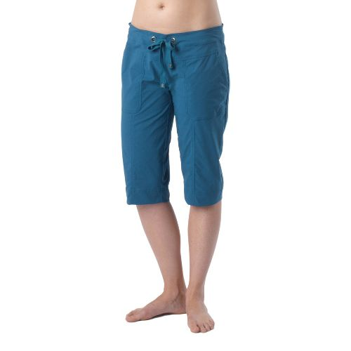 Womens Prana Bliss Knicker Capri Pants - Ink Blue M