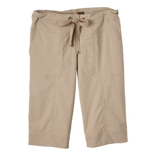 Womens Prana Bliss Knicker Capris Pants - Khaki S