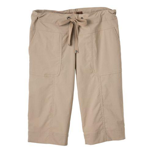 Womens Prana Bliss Knicker Capris Pants - Khaki XS