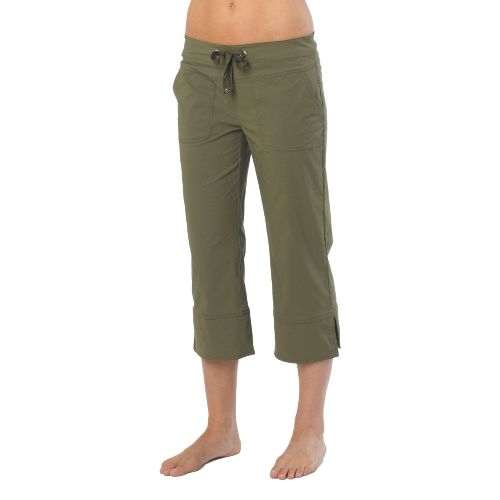Womens Prana Bliss Capris Pants - Cargo Green S