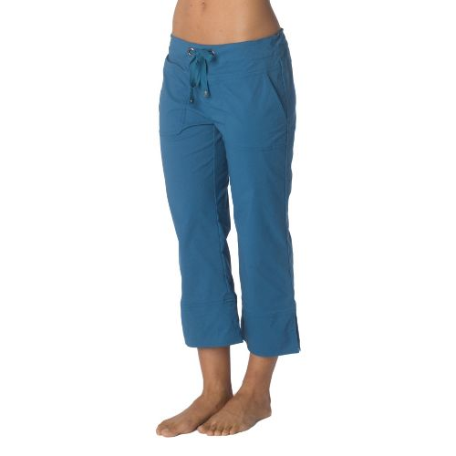 Womens Prana Bliss Capri Pants - Ink Blue L